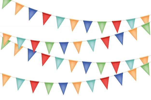 Decoratieve garland vlaggen illustratie