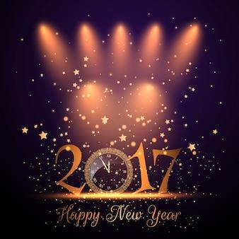 Decoratieve gelukkig nieuwjaar achtergrond