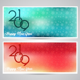 Decoratieve gelukkig nieuwjaar achtergronden