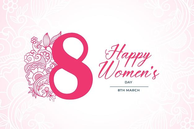 Decoratieve gelukkige vrouwendag maart achtergrond