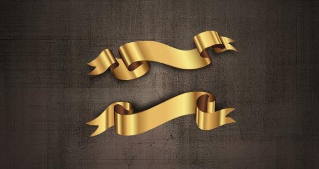 Decoratieve gouden linten vector set