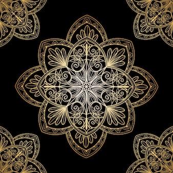 Decoratieve gouden mandala-screensaver