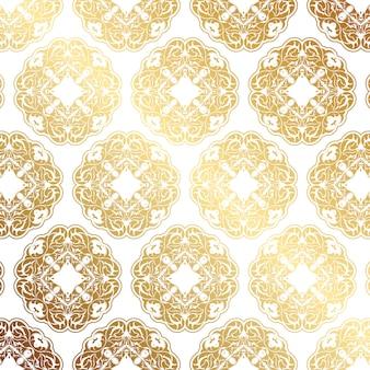 Decoratieve gouden patroonachtergrond
