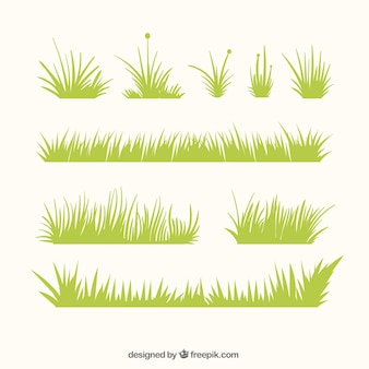 Decoratieve gras grenzen met verschillende ontwerpen