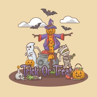 Decoratieve halloween-achtergrond