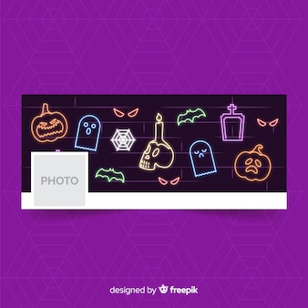 Decoratieve halloween facebook banner