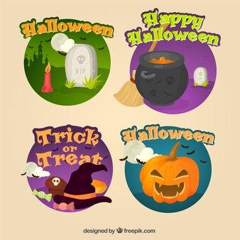 Decoratieve halloween stickers