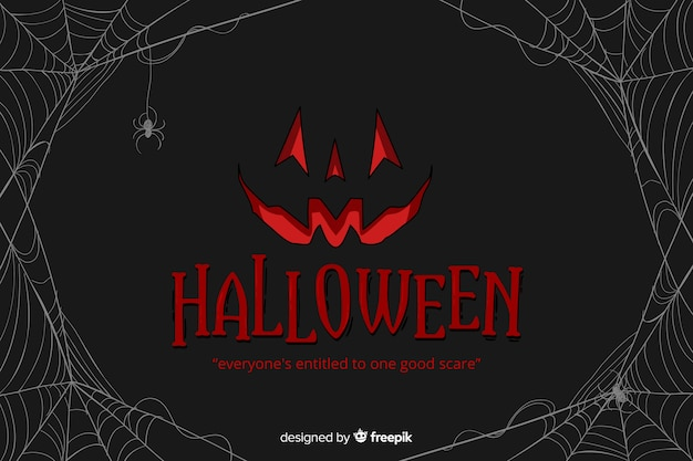 Decoratieve halloween-vlakke stijl als achtergrond