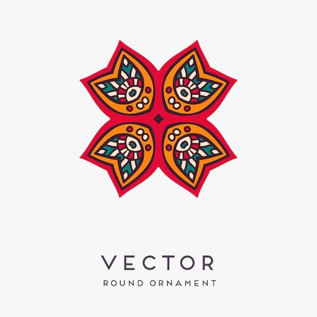 Decoratieve hand getekend mandala illustratie
