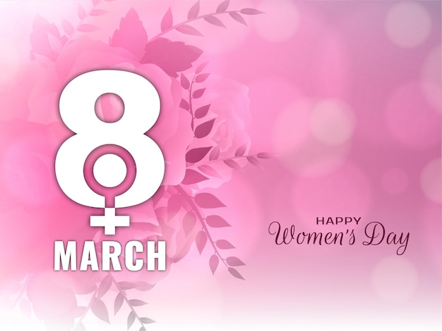 Decoratieve happy women's day bokeh stijl achtergrond