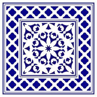 Decoratieve het tapijtachtergrond van het porselein