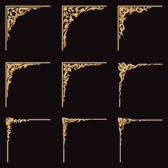 Decoratieve hoekrand gesneden vintage frame
