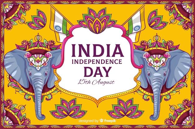 Decoratieve indiase onafhankelijkheidsdag achtergrond