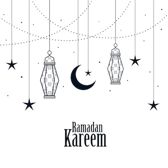 Decoratieve islamitische ramadan kareem