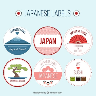 Decoratieve japan labels