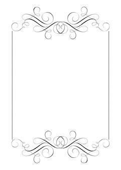 Decoratieve kaders en rand standaardrechthoek
