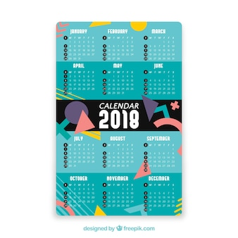 Decoratieve kalender 2018