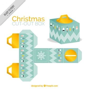Decoratieve kerst doos