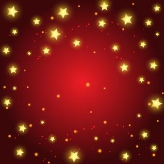 Decoratieve kerst met gouden sterren design