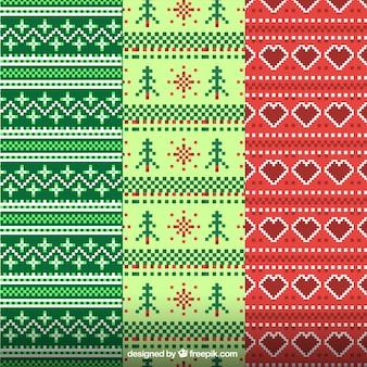 Decoratieve kerst patronen gemaakt van wol