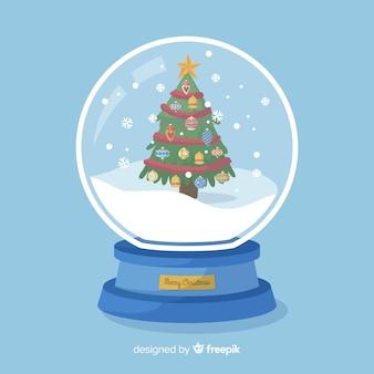 Decoratieve kerst sneeuwbal globe