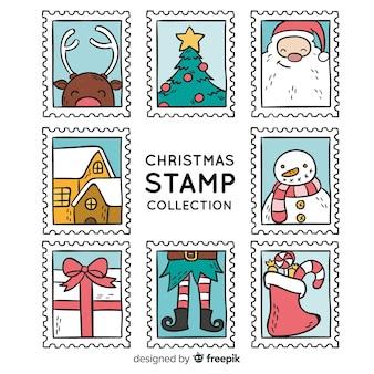 Decoratieve kerst stempel collectie