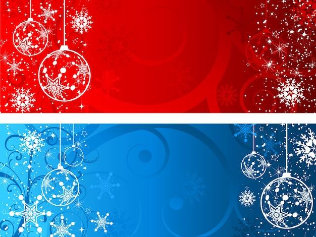 Decoratieve kerstachtergronden
