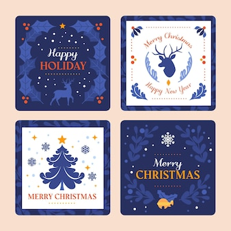Decoratieve kerstkaarten collectie