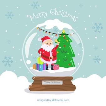 Decoratieve kerstmissneeuwbal