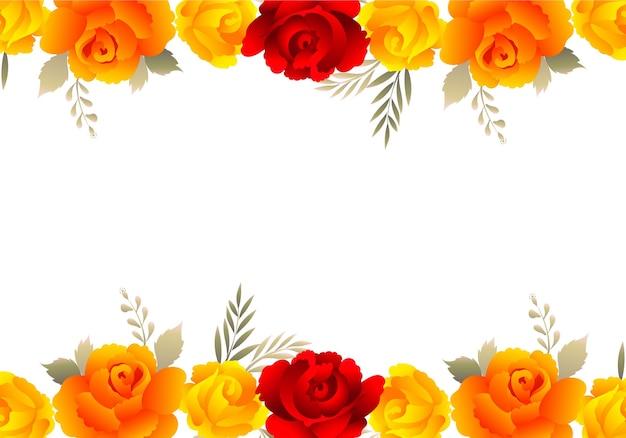 Decoratieve kleurrijke bloemen bruiloft uitnodiging kaart achtergrond