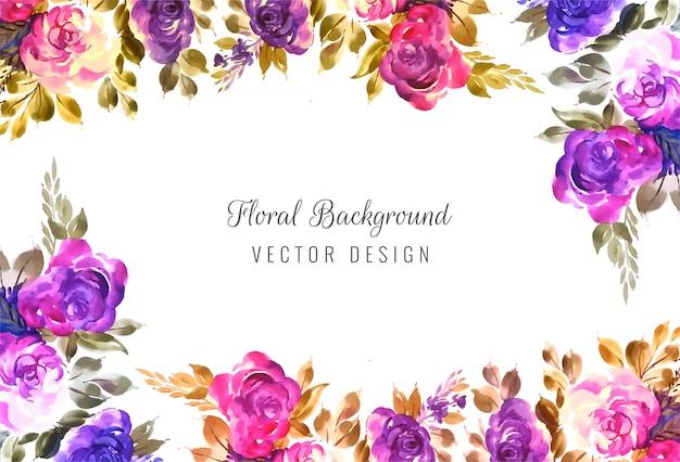 Decoratieve kleurrijke bruiloft bloemen frame achtergrond