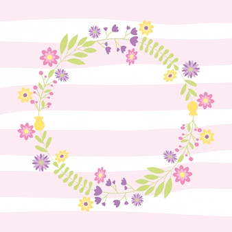 Decoratieve krans met bloemen