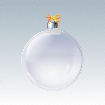 Decoratieve kristallen kerstbal