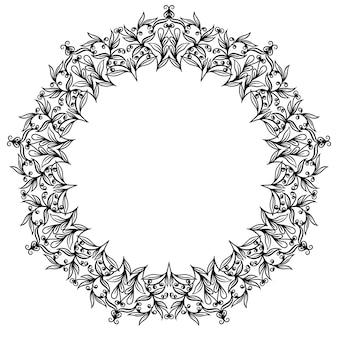 Decoratieve lijn kunst frames. elegant element voor ontwerp in oostelijke stijl. zwarte omtrek florale rand.
