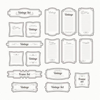Decoratieve lijsten. vector vintage randen instellen