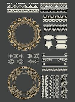 Decoratieve lint emblemen cartoon