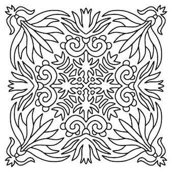 Decoratieve mandala. boek kleurplaat.