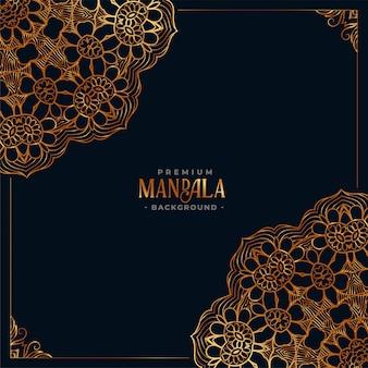 Decoratieve mandala etnische zwarte achtergrond
