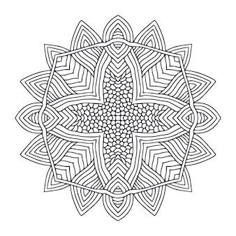 Decoratieve mandala kleurboekpagina