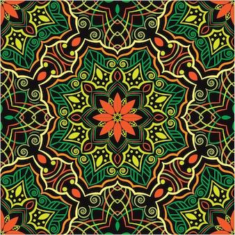 Decoratieve mandala ontwerp abstracte achtergrond, naadloos patroon