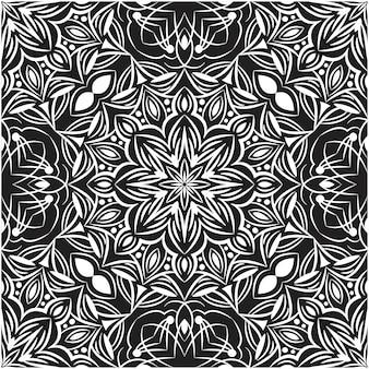 Decoratieve mandala ontwerp abstracte achtergrond. naadloos patroon