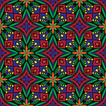 Decoratieve mandala ontwerp abstracte achtergrond. naadloze patroon