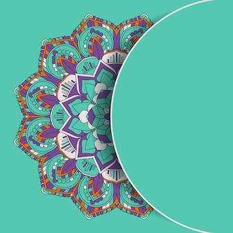 Decoratieve mandala ontwerp achtergrond