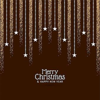 Decoratieve merry christmas groet achtergrond