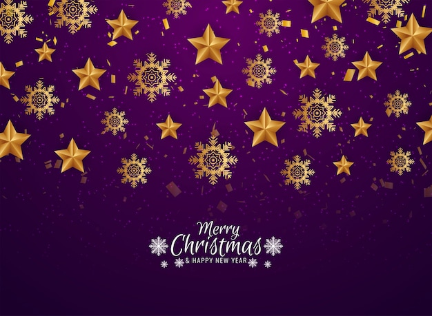 Decoratieve merry christmas viering wenskaart