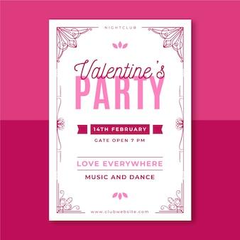 Decoratieve monocolor valentijnsdag poster