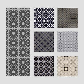 Decoratieve naadloze patronen set