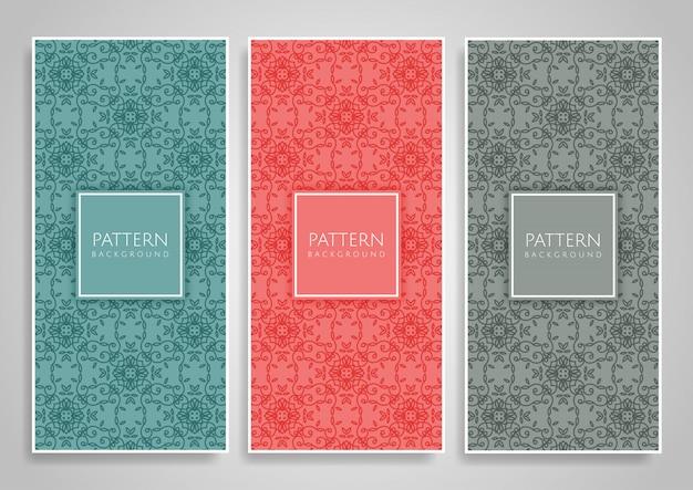 Decoratieve naadloze patroonreeks