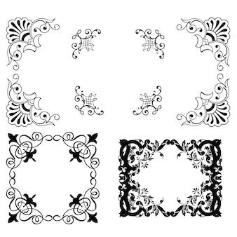 Decoratieve nieuwe frames