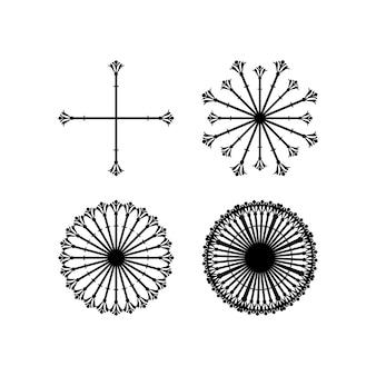 Decoratieve ontwerpen die kunnen worden gebruikt om het ontwerp te verfraaien of toe te voegen